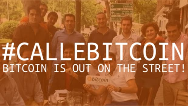 Op-ed - #CALLEBITCOIN. BITCOIN IS OUT ON THE STREET!
