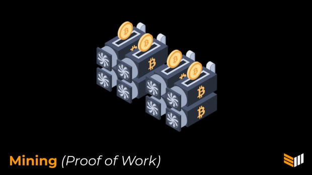 Bitcoin mining relies on a system called proof of work.