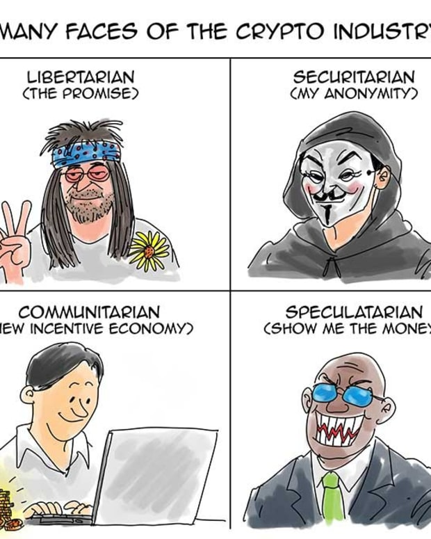 Cartoon: Crypto's Different Faces