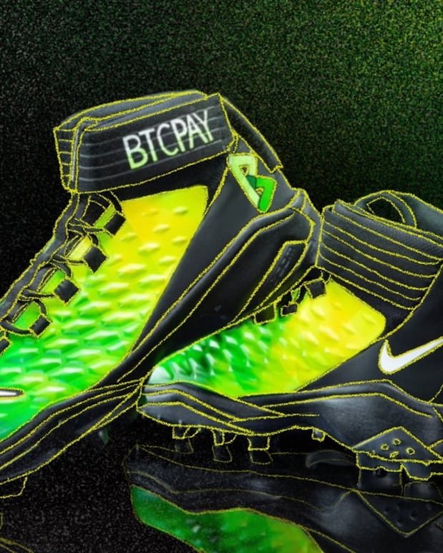 The NFL's biggest Bitcoin spokesperson, Russell Okung, will wear cleats advertising BTCPay in his next game.