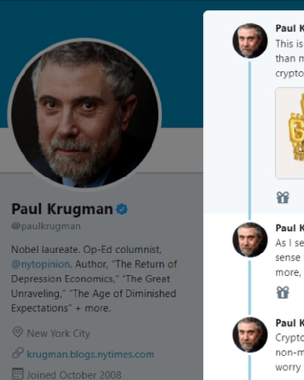 Op-ed - Op Ed: Here's What Paul Krugman Got Wrong in His Bitcoin Tweetstorm