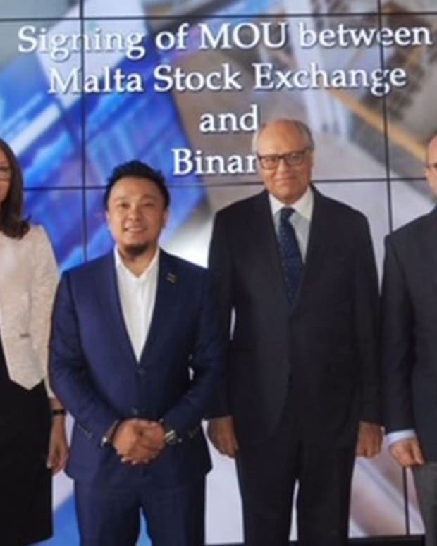 Adoption & community - Malta Stock Exchange and Binance to Launch Tokens Platform