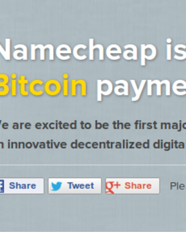 Op-ed - Namecheap Latest to Accept Bitcoin