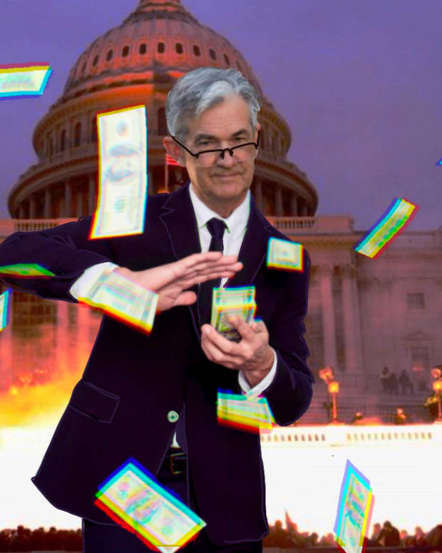 Jerome Powell, the chair of the Federal Reserve, is often accused of printing fiat money in Washington, D.C.