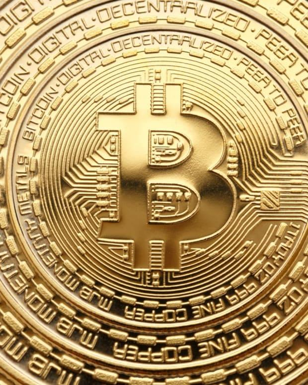 Bitcoin is often rendered as a gold coin or casascius coin