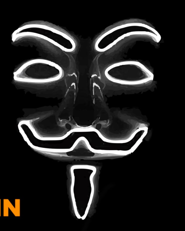Satoshi Nakamoto, pseudonymous (not anonymous) founder of Bitcoin and its Genesis Block, is often depicting with a Guy Fawkes mask.