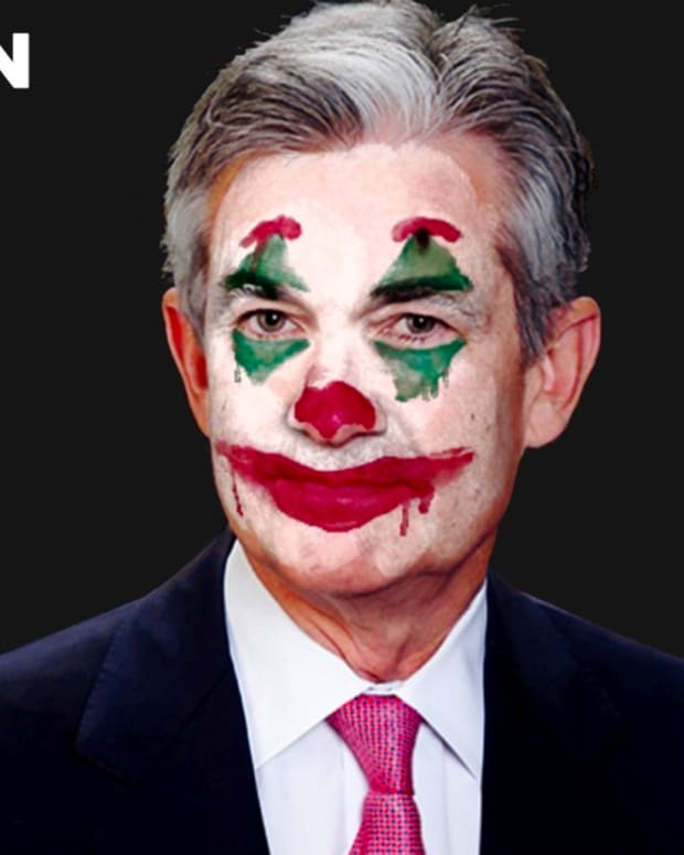 Jerome Powell, chairman of the Federal Reserve or Fed, is seen by many as a clown for fiat money inflation.