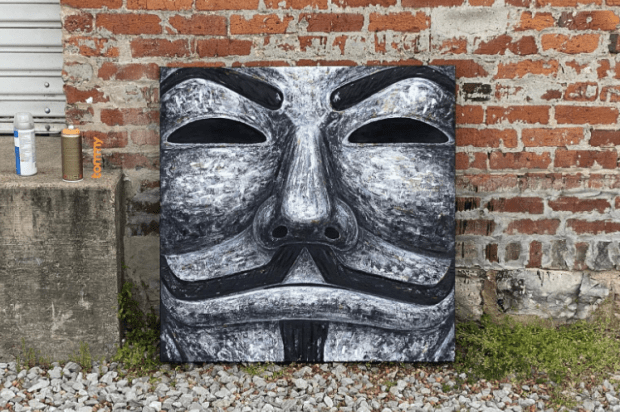 Bitcoin Magazine's Art Director To Auction Guy Fawkes Painting For Bitcoin