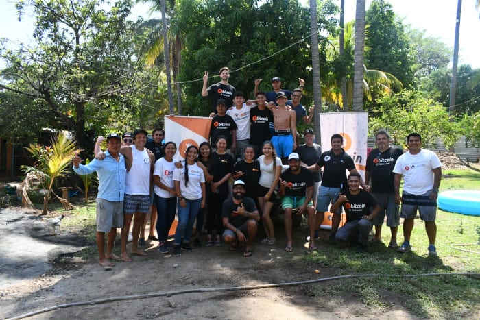 Residents of El Zonte, El Salvador, where Bitcoin Beach is focused, along with members of the Strike team. Source: Strike.