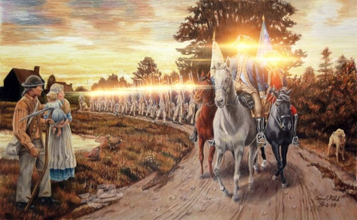 George Washington's guard having undergone laser eye surgery -Final Road to Liberty - Henry Kidd