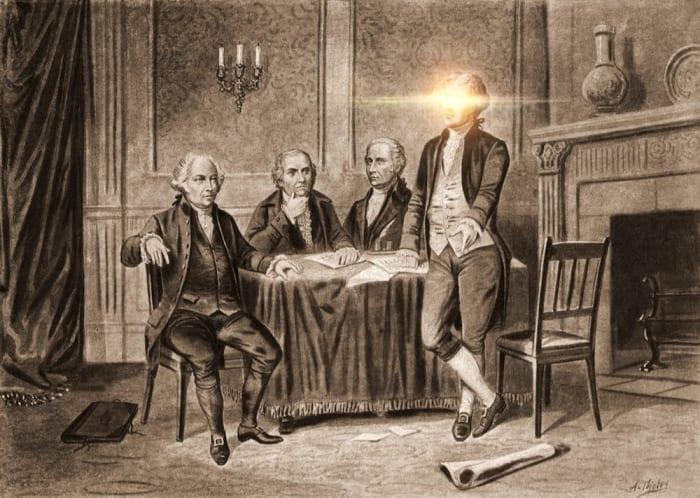 Leaders of the Continental Congress--John Adams, Morris, Hamilton, Jefferson / A. Tholey.