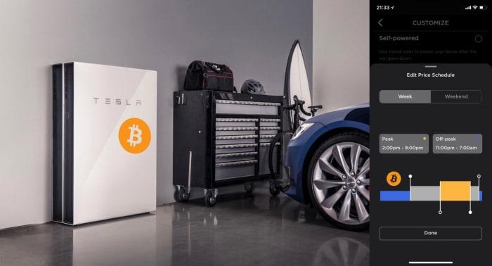 bitcoin enabled tesla solar battery