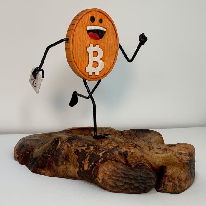 hal finney running bitcoin dedication sculpture