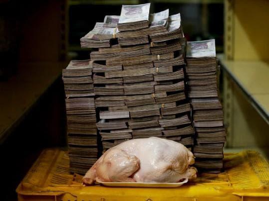 venezuela bolivars needed to buy chicken