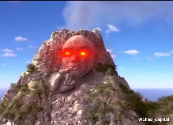 chad capital volcano meme