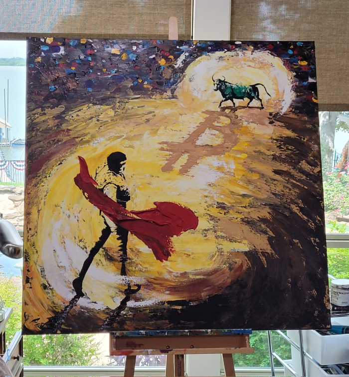 "Marisa Jean Angeli's ""Bull Market."""