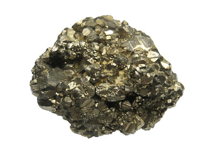 Pyrite aggregate (source: Wikipedia)