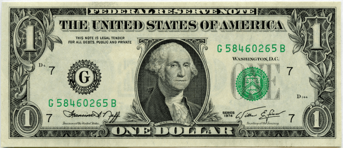 us dollar american dollar one