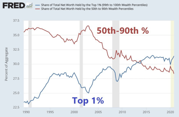 Chart 1: Share of Total Net Worth