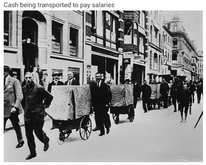 historical cash being transported