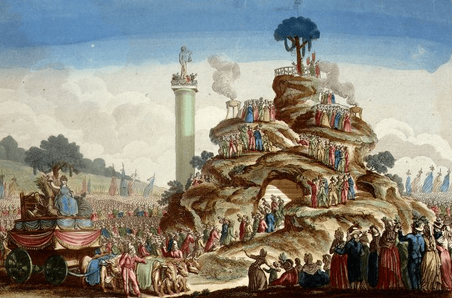 The highest form of absurdity: Cult of the Supreme Being at the peak of the Reign of Terror, Thermidor Year 2.