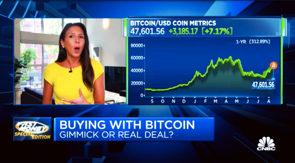 CNBC Video Says Bitcoin Is Store Of Value But Not Currency, Misses The Big Picture