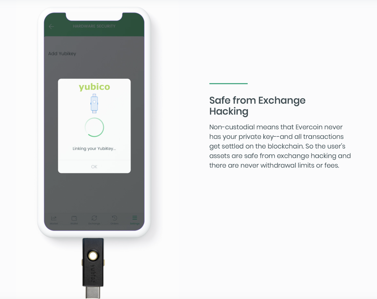 The Evercoin 2 is an interesting combination between Yubico's key security hardware and Evercoin's noncustodial wallet and exchange.