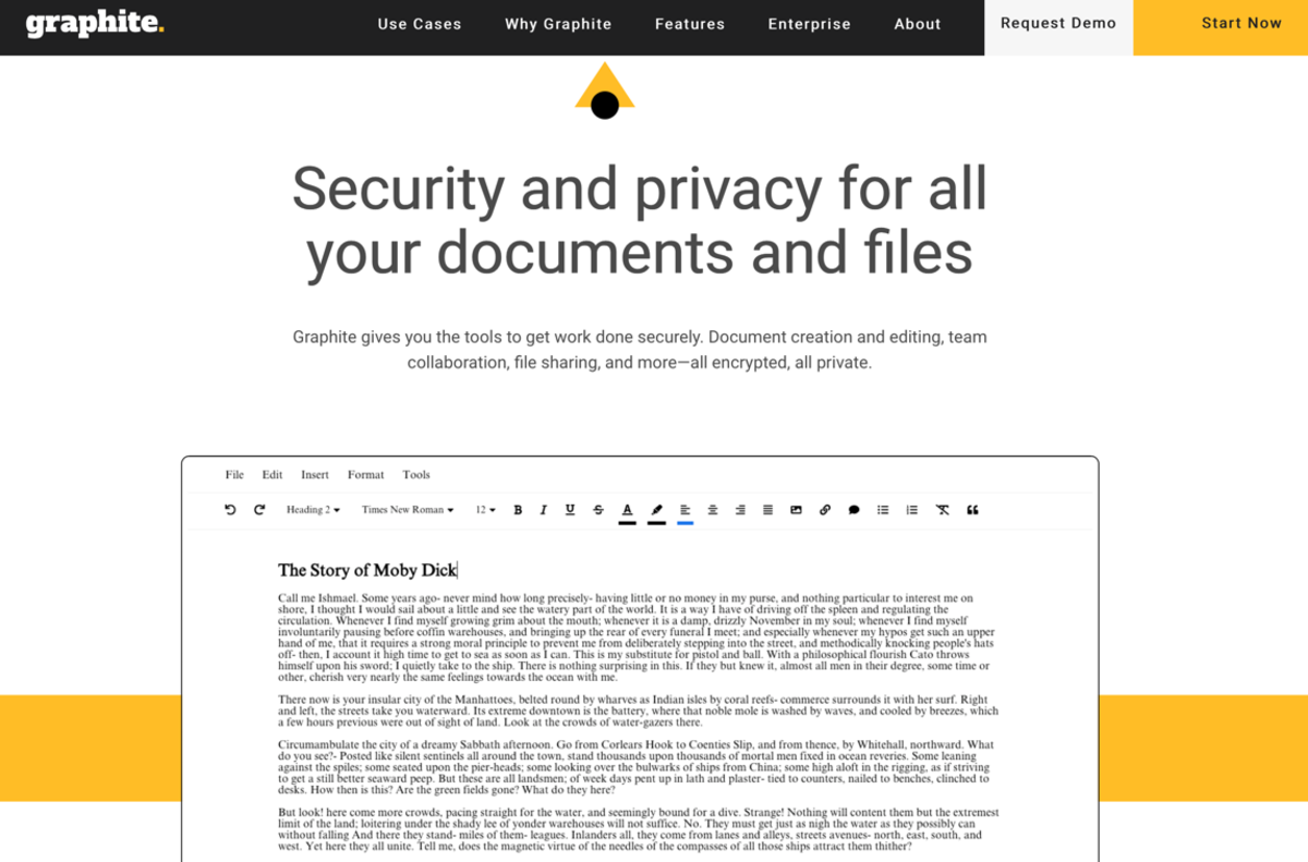 Graphite attempts to compete with Google Docs by offering encryption features. But will it ever completely replace its mainstream rival?