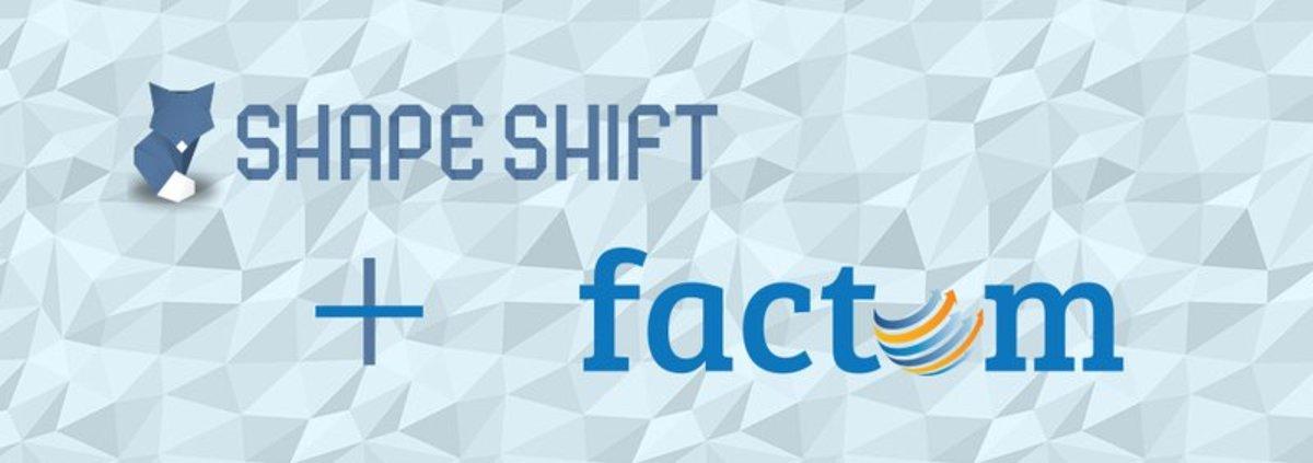 Op-ed - ShapeShift & Factom Partner for Release of Factoids