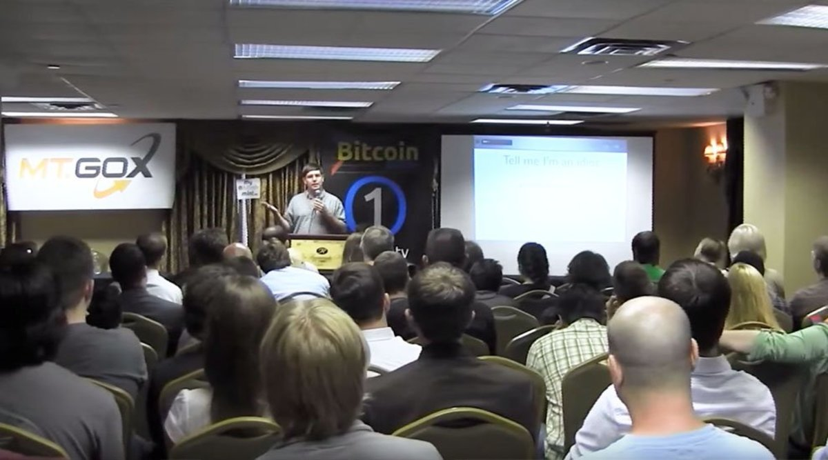 Gavin Andresen speaks at thefirst Bitcoin Conference in New York, August 2011.