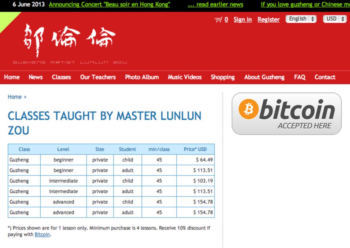 Op-ed - Lunlun Zou Guzheng Studio: First Hong Kong Business to Accept Bitcoin
