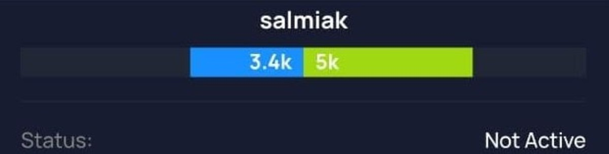 """Thunderhub view of my balanced channel to Burkhardt under attack. The channel shows as """"Not Active,"""" as if Burkhardt were offline, but he wasn't. The amount in blue is the local balance in sats, the amount in green is the remote balance in sats owned by Burkhardt. Source: Thunderhub."""