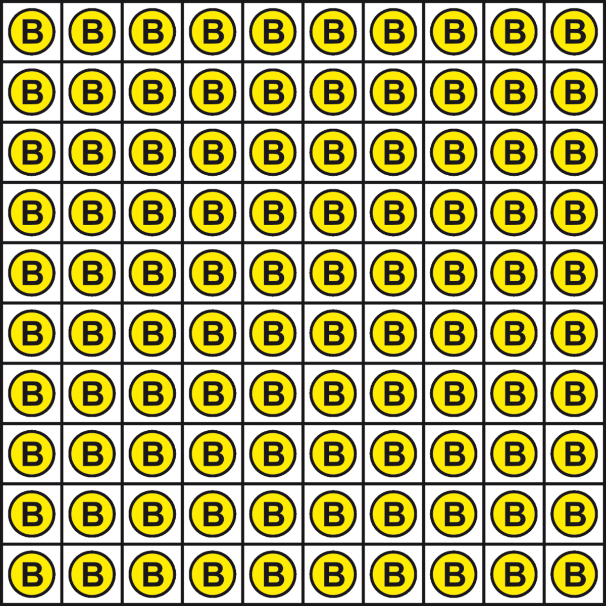 FIGURE 1: a 10x10 bitcoin field