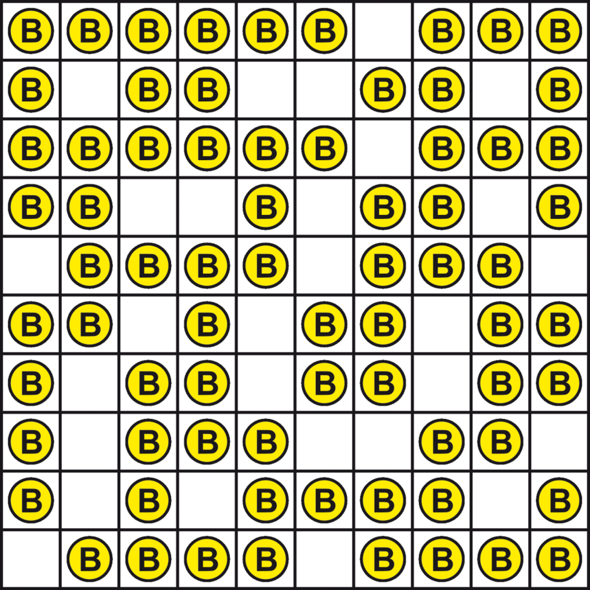 FIGURE 5: field with some empty cells
