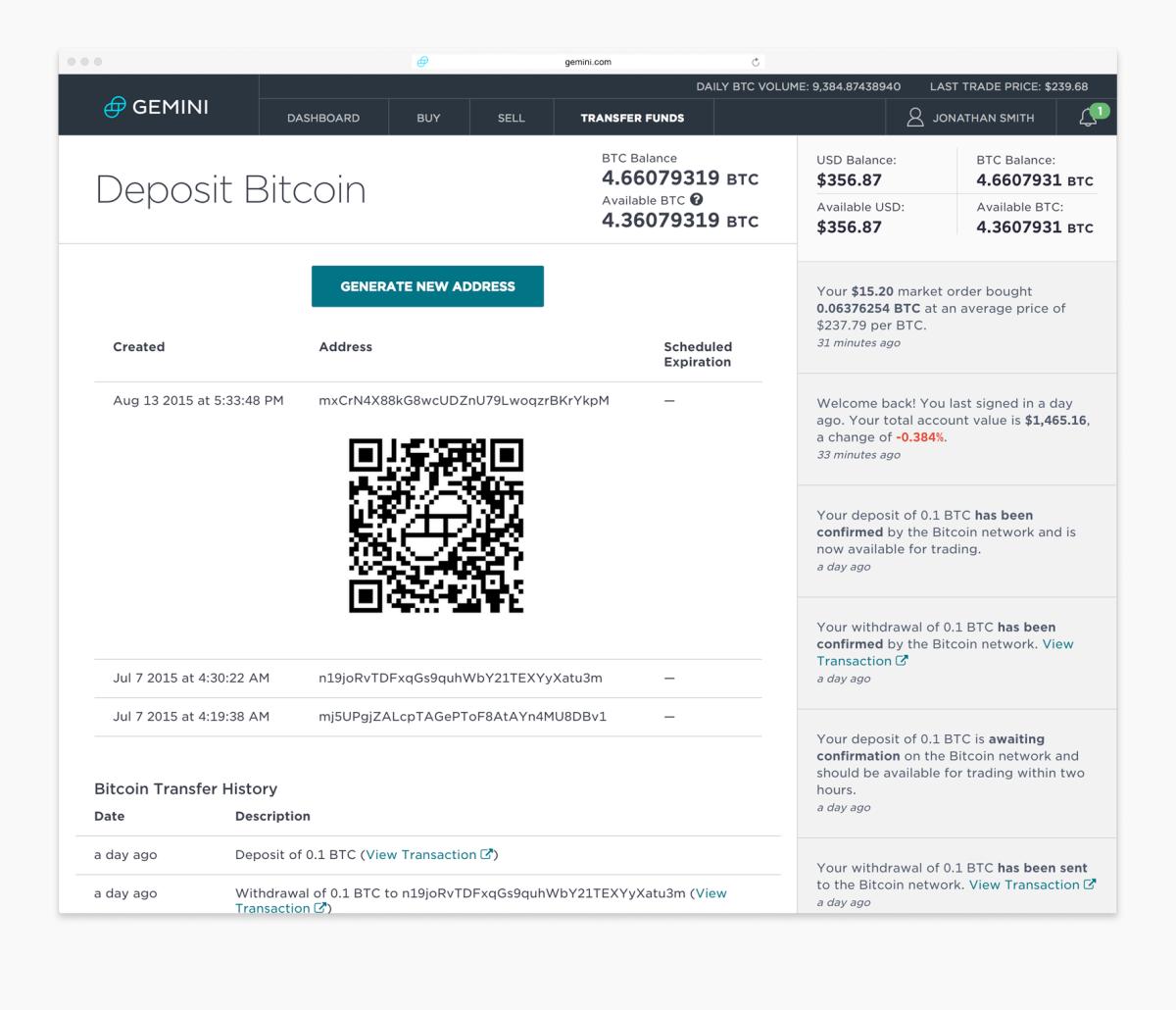 Gemini - Bitcoin