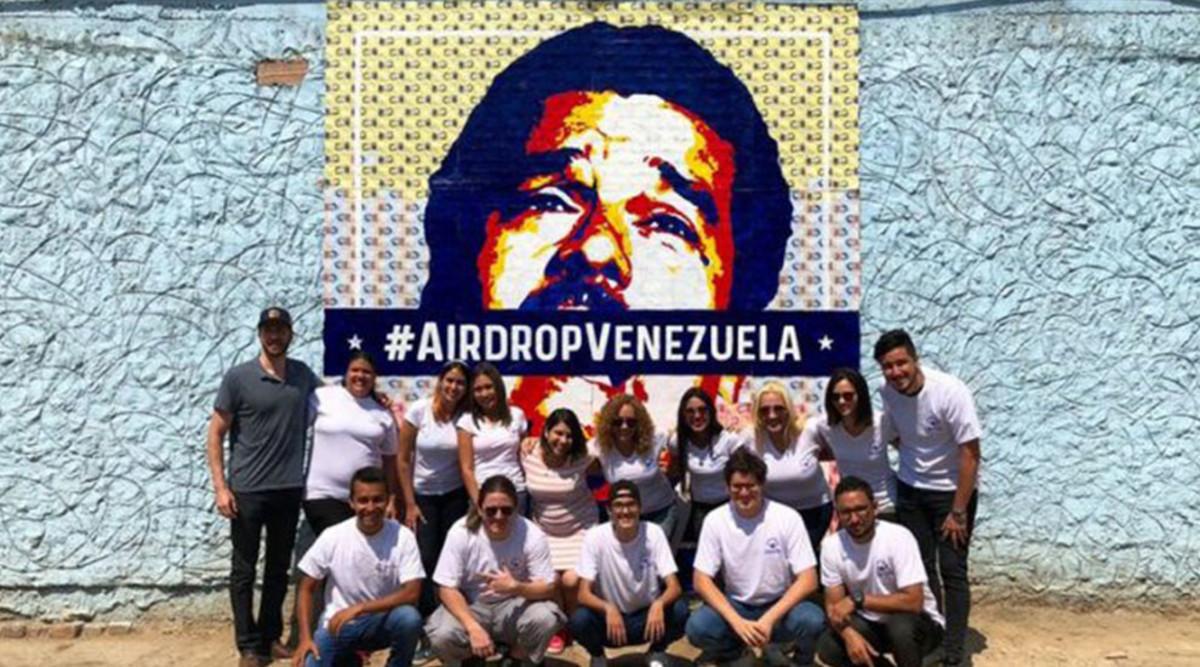 Bitcoin art by cryptograffiti for #airdropvenezuela