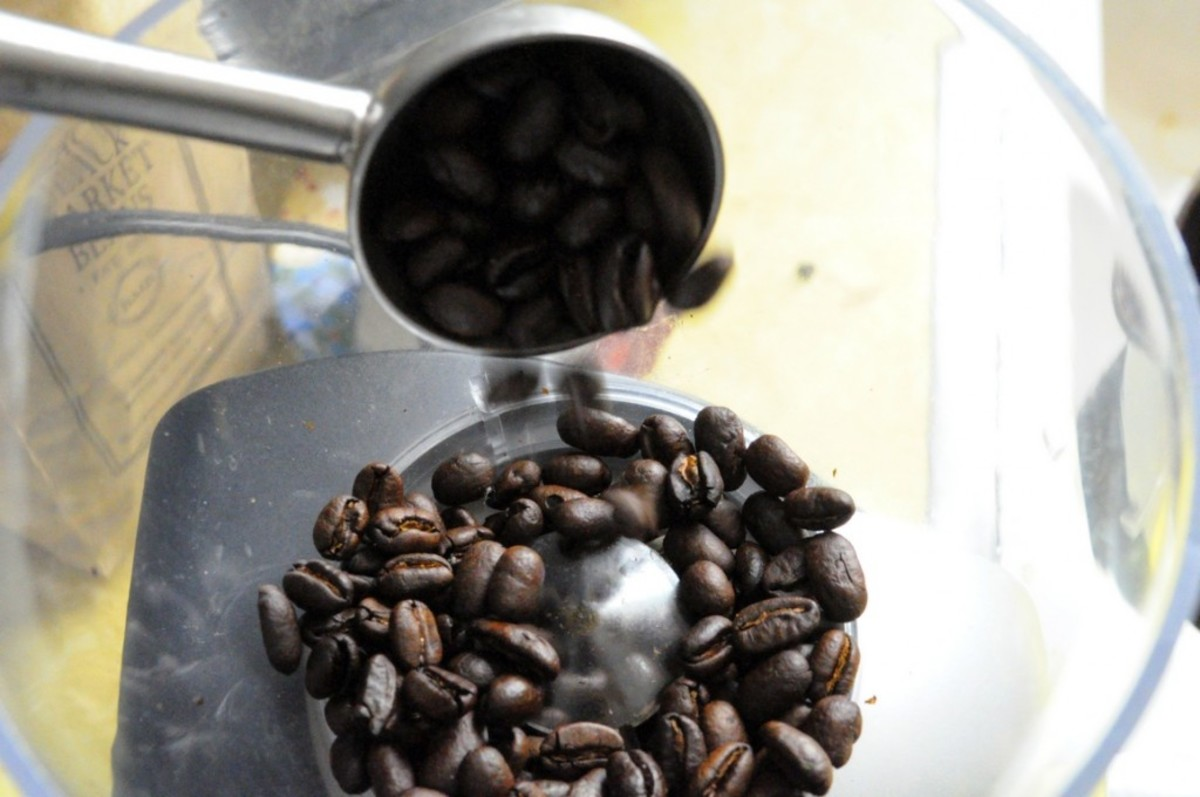 Grinding coffee for french press