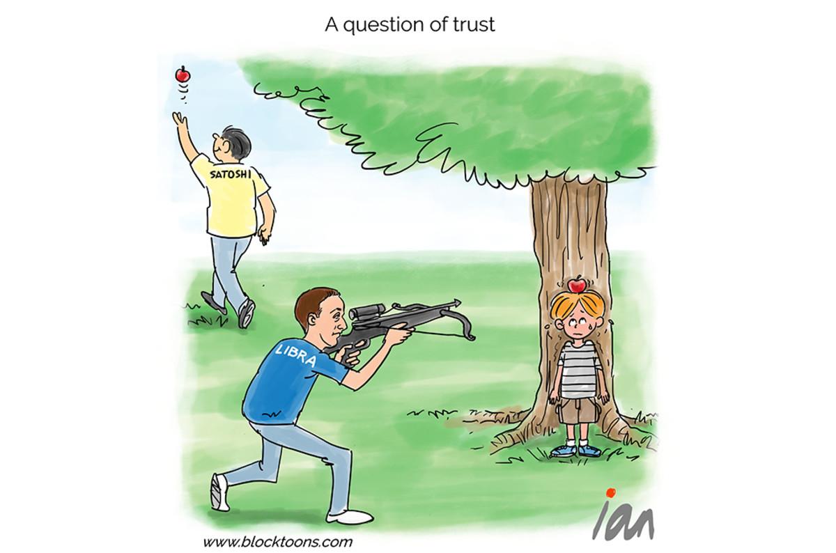 Bitcoin Cartoon: Libra, Facebook Question of Trust