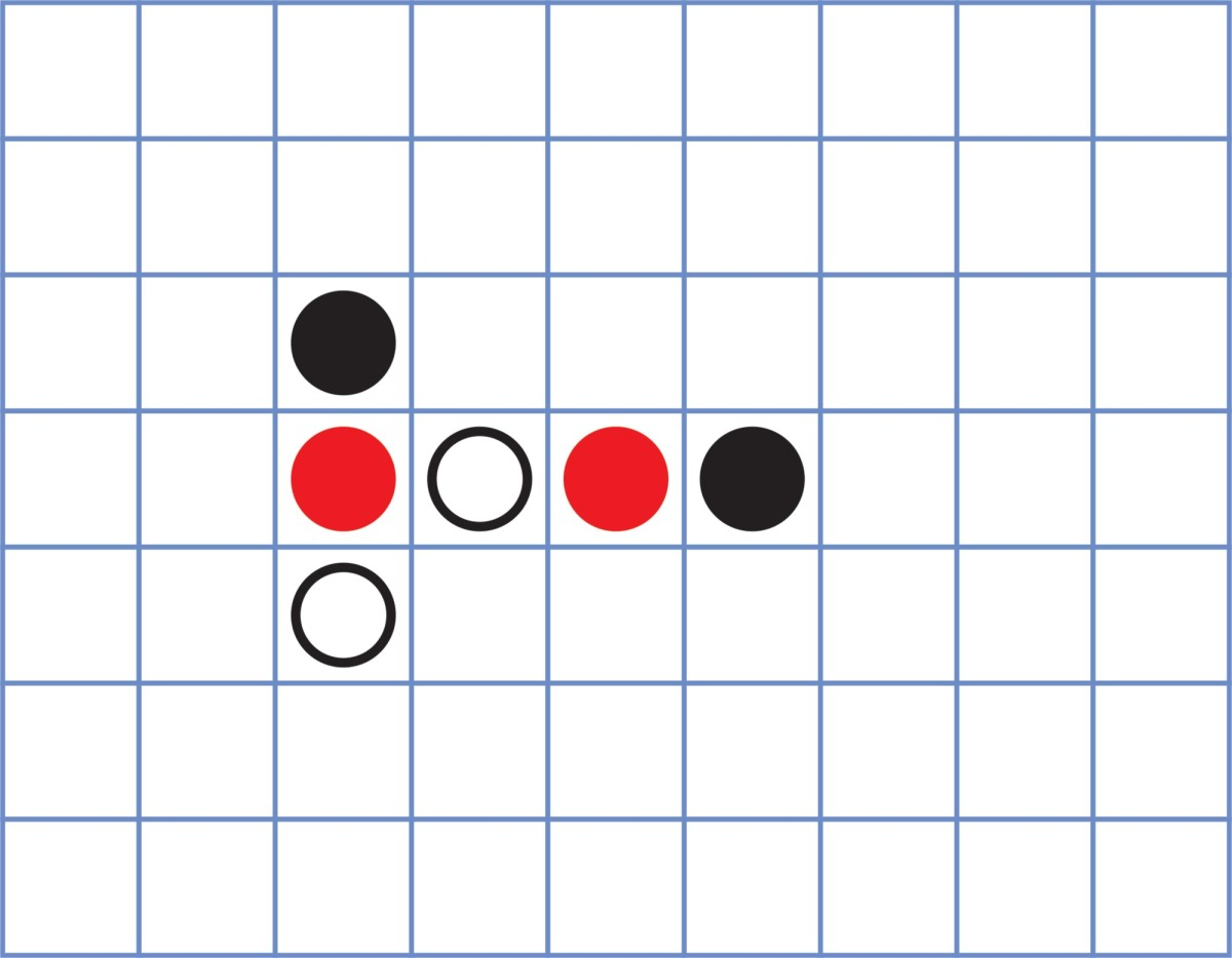 Figure 5: Example of game state after Sheep's first move. Notice how the new tile has been placed vertically pointing upwards.