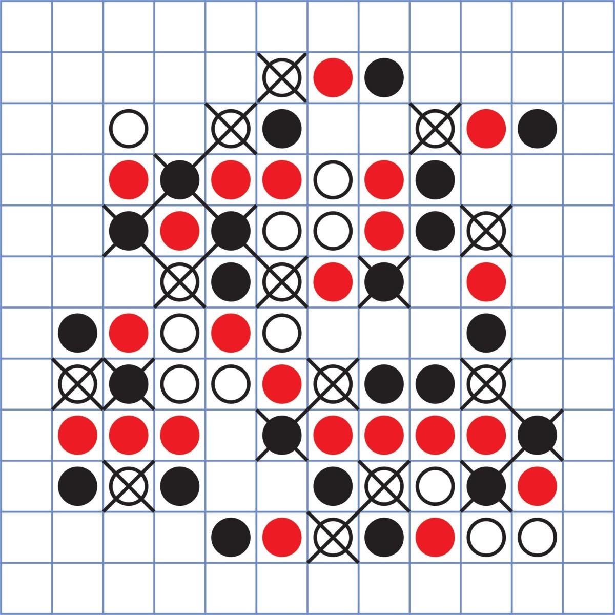 Figure 6: Example of endgame. Sheep scores 11 points.