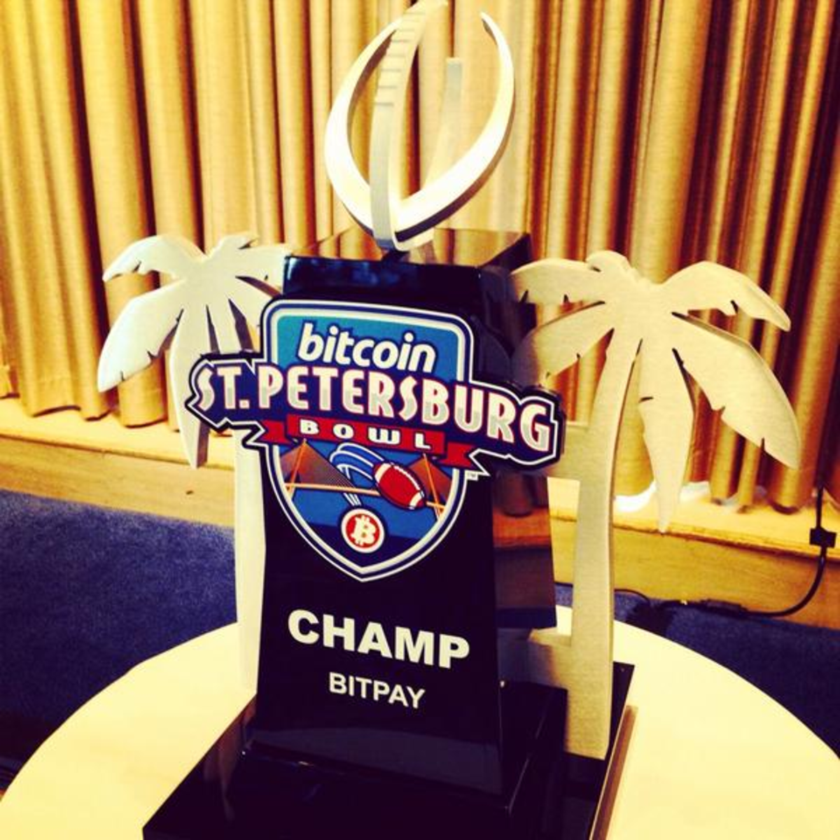 The Bitcoin Bowl trophy