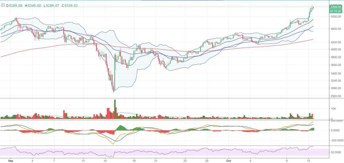 Figure 1: BTC-USD, 4-Hour Candles, GDAX, Macro Trend