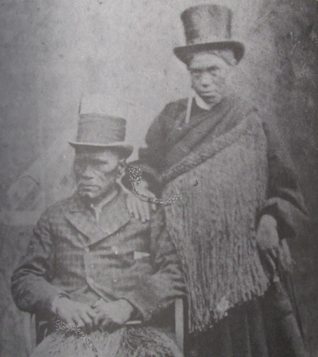 """Denial of Sovereign Rights"": The second Māori King, pictured with his wife, Hera. Source"