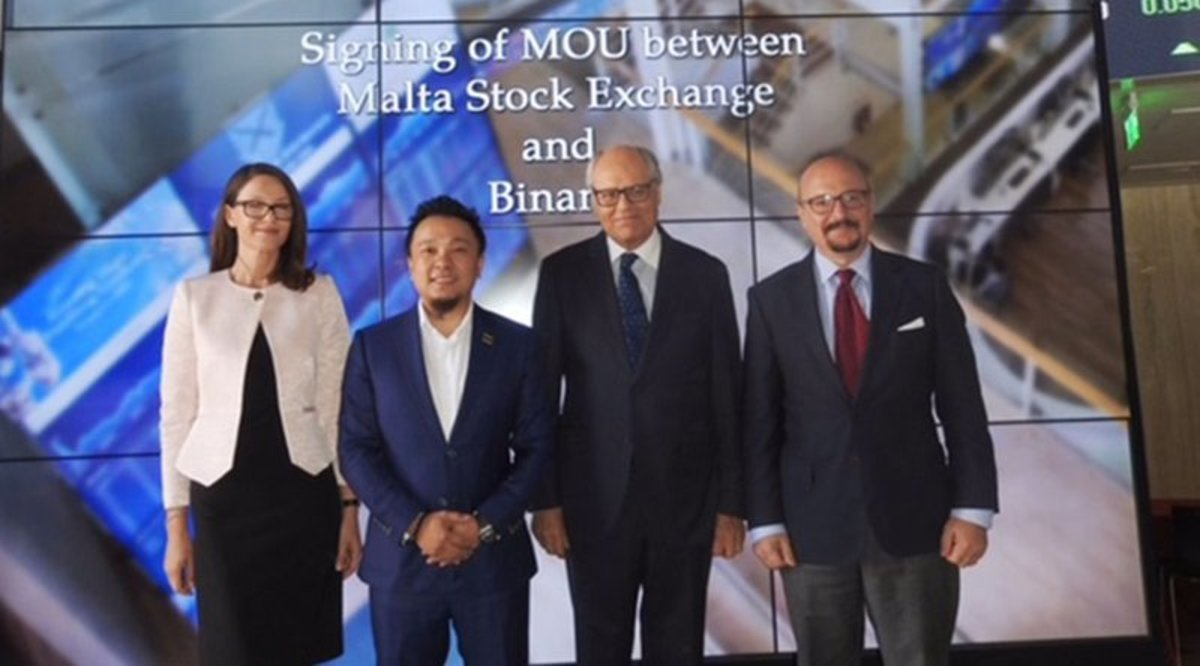 Adoption & community - Malta Stock Exchange and Binance to Launch Tokens Platform
