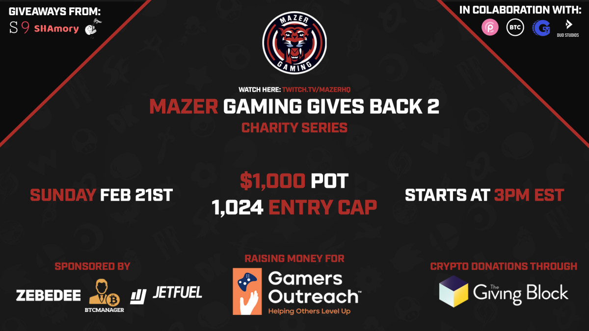 Mazer Gaming Gives Back