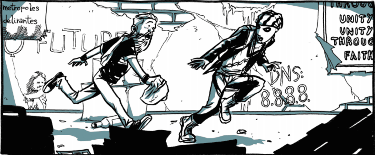 A picture from the comic book