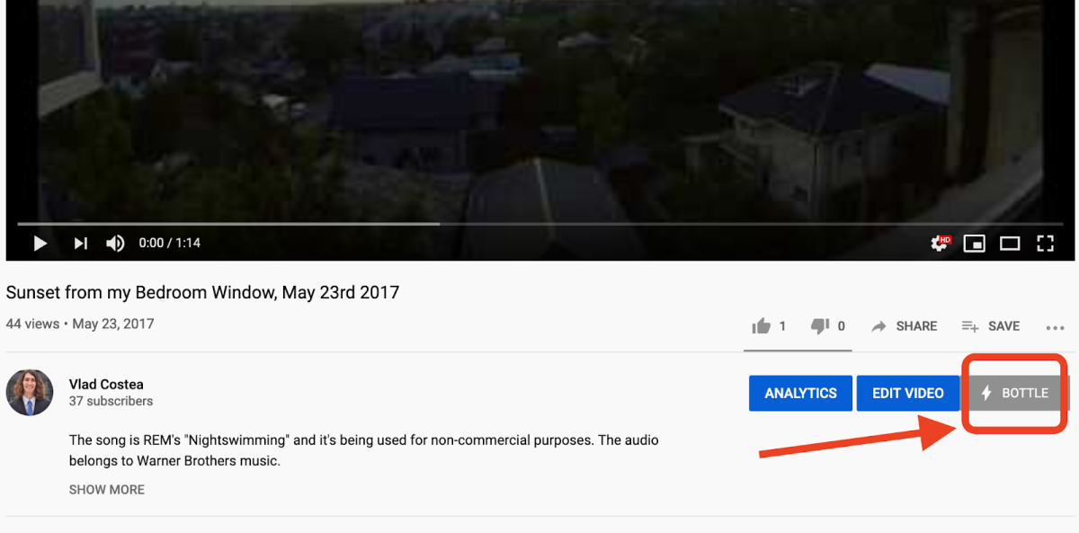 A Bottle Pay tip button directly under your videos gives you the best chance of monetizing your content directly with bitcoin.