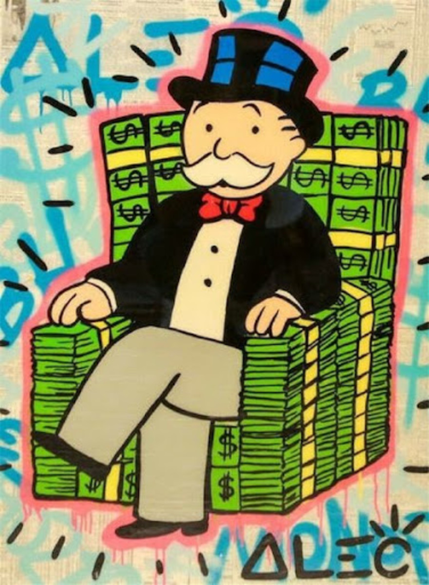 "This should not be you. Source: Alec Monopoly , "" The Boss"""