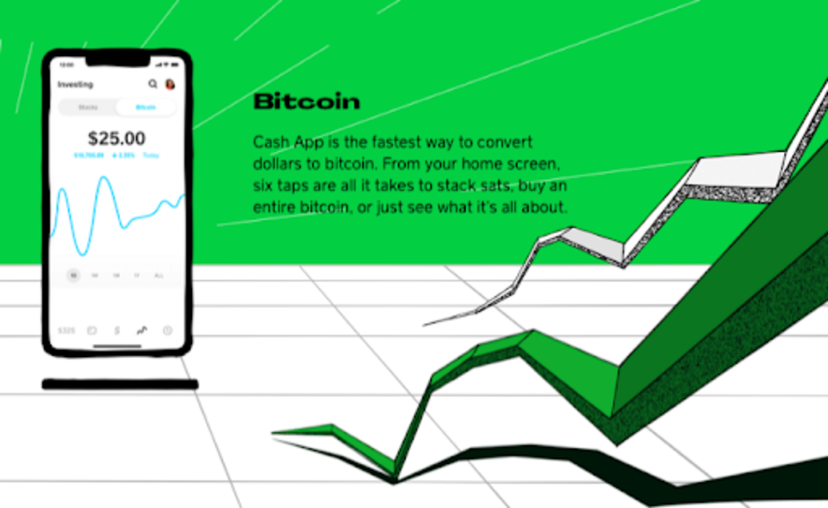Square's Cash App Bitcoin investment advert. Source: http://cash.app.