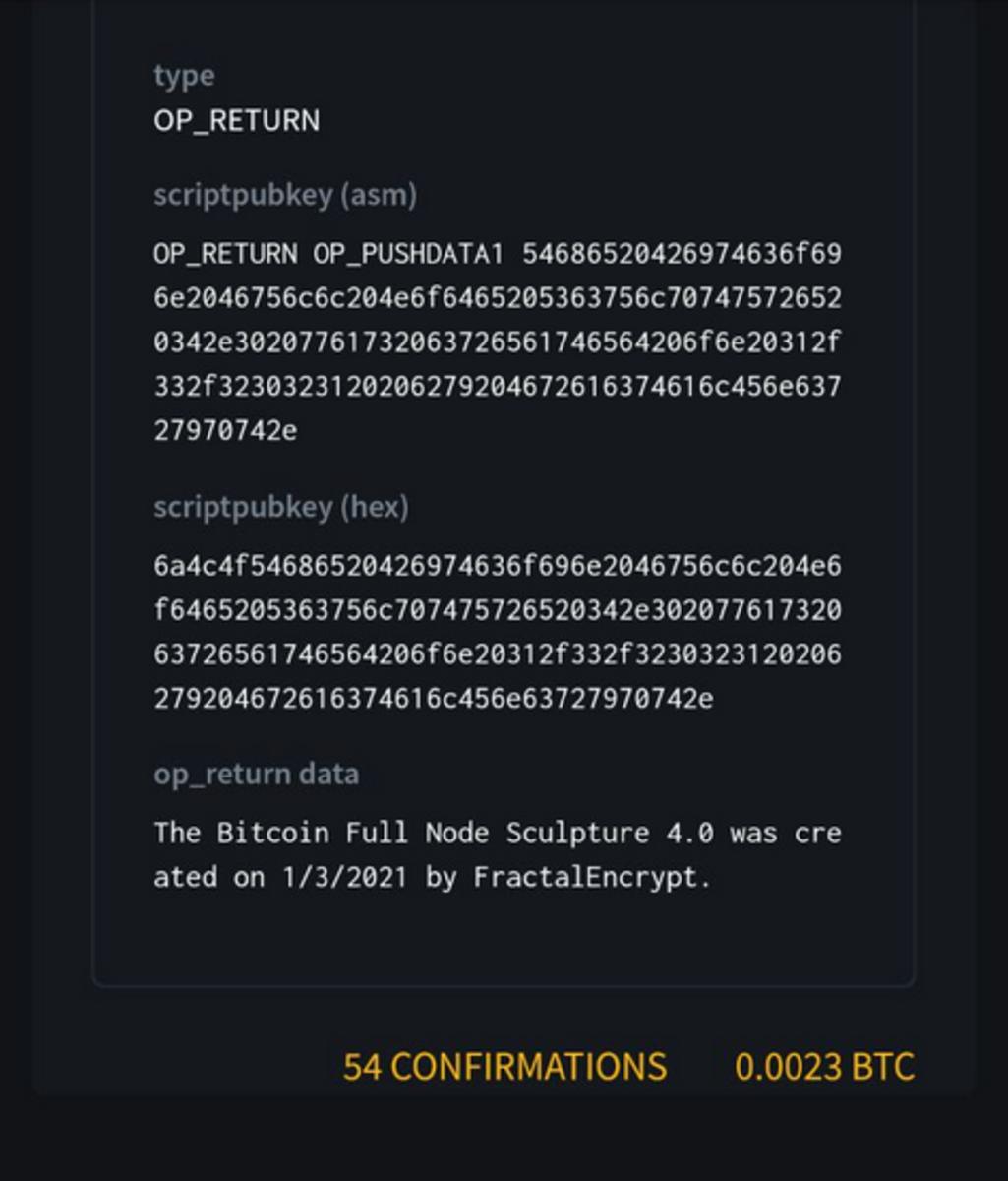 The hidden message on the Bitcoin blockchain.